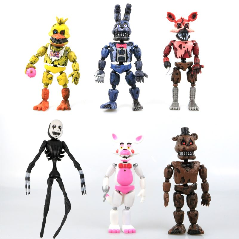 Набор подвижных игрушек 5 ночей с Фредди 6 персонажей