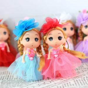 Очаровательная куколка-брелок, 12см