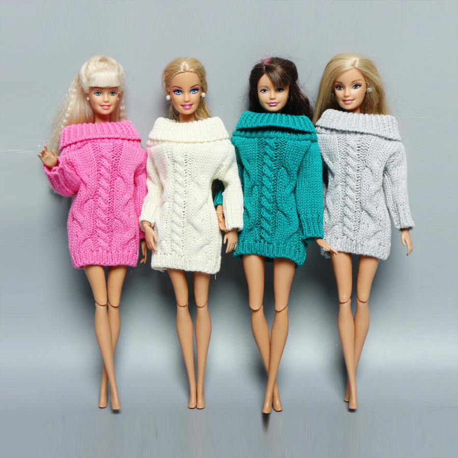 Отличное платье-свитер для кукол