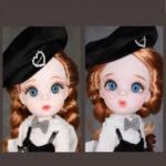 """Авторская шарнирная кукла """"Бьянка"""", 28см"""