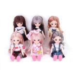 Набор из 6 шарнирных кукол, 16см