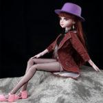 """Шарнирная кукла """"Аннет"""" с музыкой и подсветкой, 60см"""